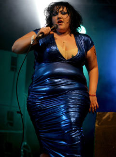 Beth Ditto from The Gossip at Glastonbury 2007