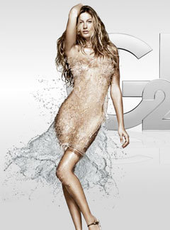 Marie Claire news: Gisele Bundchen in water dress for new advert