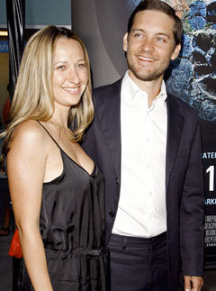 Marie Claire celebrity photos:  Tobey Maguire marries Jennifer Meyer