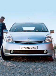 Toyota Prius car used by new taxi company