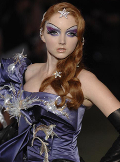 Lily Cole in Dior Couture