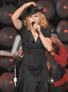 Madonna performing at Live Earth London