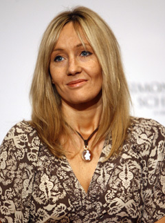 J K Rowling, the wealthiest woman in Britain