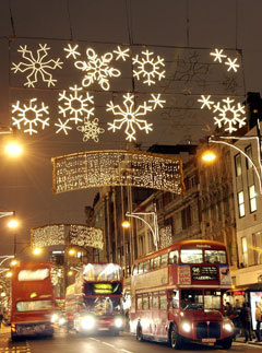 Marie Claire news: Christmas lights on Oxford Street
