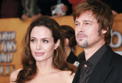 Brad Pitt and Angelina Jolie at the SAG awards