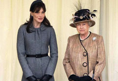 Carla Bruni with the Queen