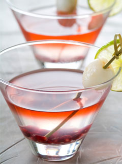 Marie Claire Recipes: Lemongrass and Lychee martini