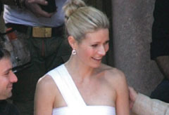 Gwyneth Paltrow on the set of the Tod's advert