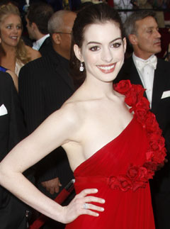 Marie Claire celebrity photos: Anne Hathaway, The Oscars 2008