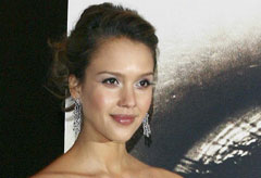 Jessica Alba at the Paris premiere of The Eye