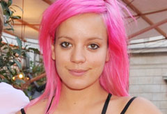 Marie Claire celebrity news: Lily Allen with pink hair
