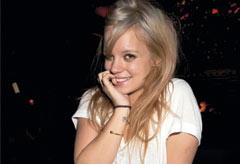 Lily Allen at the Noel Fielding Teenage Cancer Trust party