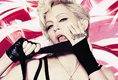 The cover of Madonna's new album, Hard Candy