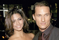 Marie Claire Celebrity News: Matthew McConaughey and Camila Alves