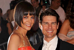 Tom Cruise and Katie Holmes at the Metropolitan Museum of Art's Costume Institure Gala