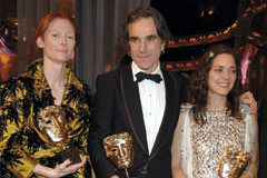 Tilda Swinton, Daniel Day Lewis and Marion Cotillard at the BAFTAs