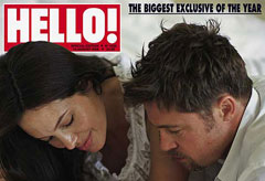 Marie Claire celebrity news: Brad and Angelina on cover of Hello!