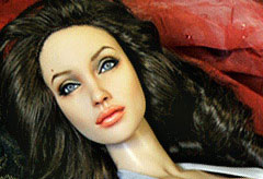 The Angelina Jolie doll that sold for £2000 in eBay