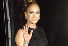 Jennifer Lopez at the Shine a Light premiere in New York