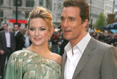 Kate Hudson and Matthew McConaughey at the London Fools Gold premiere
