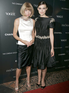 Marie Claire Celebrity News: Keira Knightley and Anna Wintour