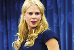 Nicole Kidman speaks at a Unifem press conference at the United Nations in New York City