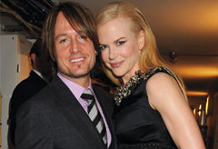Keith Urban and Nicole Kidman at The National Movie Awards