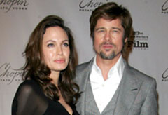 Brad Pitt and Angelina Jolie at the Santa Barbara International Film Festival