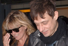 Kate Moss and Jamie Hince reunite at Heathrow airport