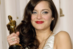 Marie Claire red carpet photos: Marion Cotillard, Oscar winner 2008