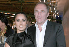 Marie Claire Celebrity News: Salma Hayek and Francois-Henri