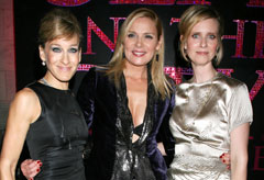Marie Claire celebrity news: Sex and the city dvd launch, Sarah Jessica Parker, Kim Cattrall and Cynthia Nixon