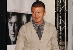 David Beckham wearing a cardigan to the Lions for Lambs premiere