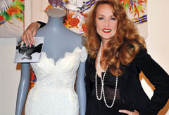 Jerry Hall dress auction at Sotheby's, London