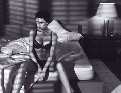 Victoria Beckham for Armani's in Lingerie, First Photos