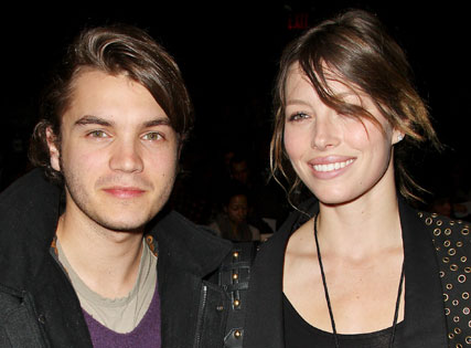 Emile-Hirsch and Jessica Biel-New York Fashion Week-17 Feb 2009-Celebrity Photos