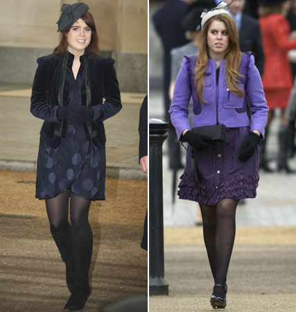 Princess Eugenie and Princess Beatrice, royals, fashion, Marie Claire