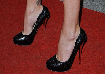 Charize Theron's Christian Dior heels at the Paris premiere of The Burning Plain