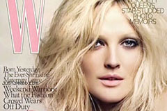Drew Barrymore for W magazine, celebrity news, Marie Claire