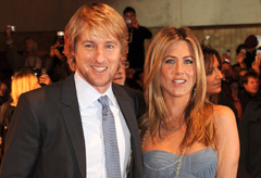 Jennifer Aniston and Owen Wilson at the London premiere of Marley & Me