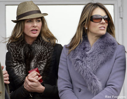 Liz-Hurley-and-Trinny Woodall, Cheltenham races
