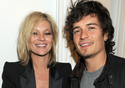 Kate Moss and Orlando Bloom