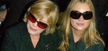 Kate Moss and Marianne Faithfull