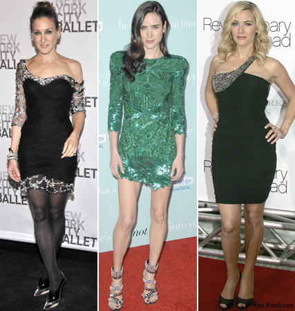 Sarah Jessica Parker, Jennifer Connelly, Kate Winslet, celebrities in Balmain, fashion, Marie Claire