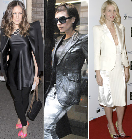 Sarah Jessica Parker, Victoria Beckham, Gwyneth Paltrow, celebrities in Balmain, fashion, Marie Claire