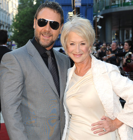 Russell Crowe and Helen Mirren, State of Play premiere, celebrity gossip, Marie Claire