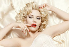 Scarlett Johansson for Dolce & Gabbana make-up, celebrity news, Marie Claire