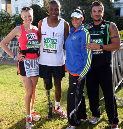 Nell Mc Andrew, Kate Price and Peter Andre, London Marathon 2009, celebrity gossip, marie claire
