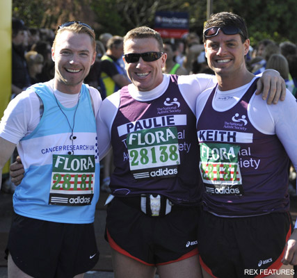 Ronan Keating and Keith Duffy, London Marathon 2009, celebrity gossip, marie claire