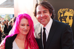 Jonathan Ross and Jane Goldman, BAFTA Television Awards Arrivals, celebrity news, marie claire
